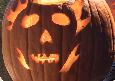 A pumpkin carving made by a year 10 pupil