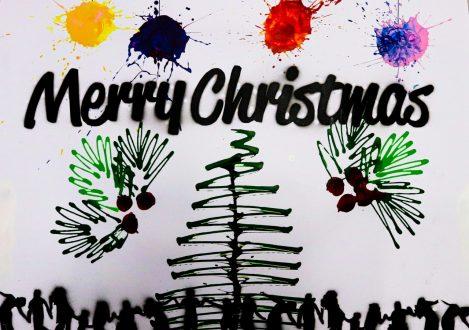 Christmas Card Design Halliford School