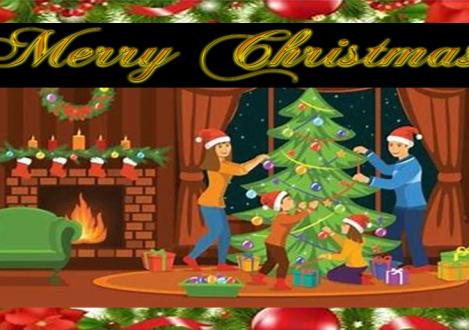 digital Christmas card design Halliford School