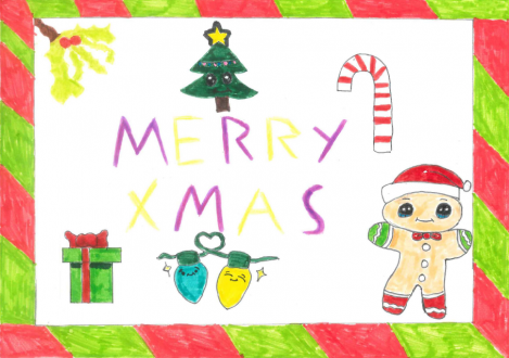 Christmas Card Design gingerbread man