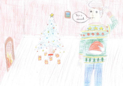 Christmas Card Design by Halliford School pupil
