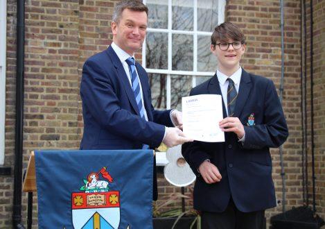 Halliford School LAMDA Exam certificate