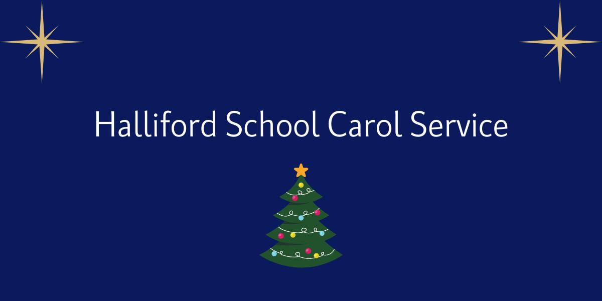 Halliford School Carol Service Banner design
