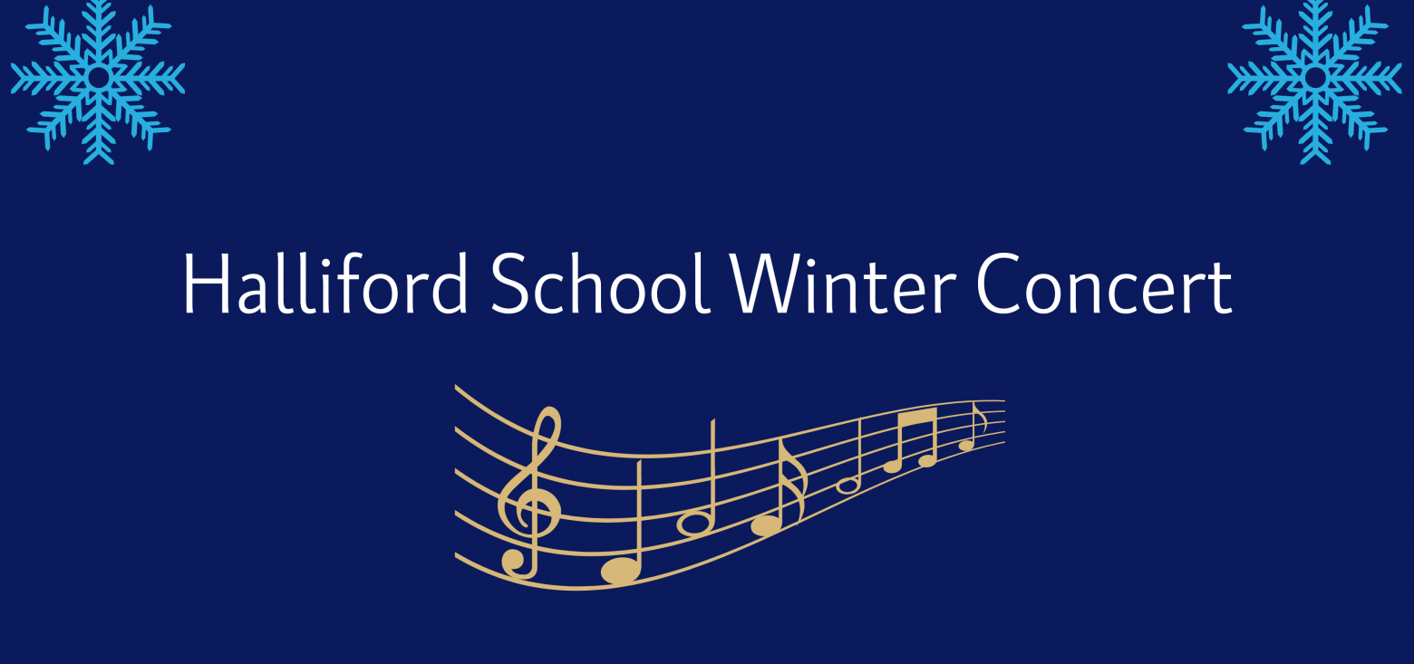 Halliford School Winter Concert Banner Design