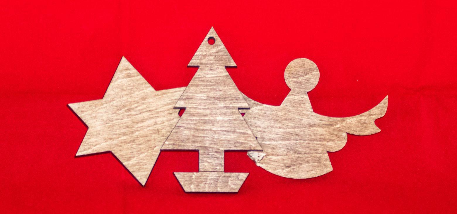 wooden Christmas shapes