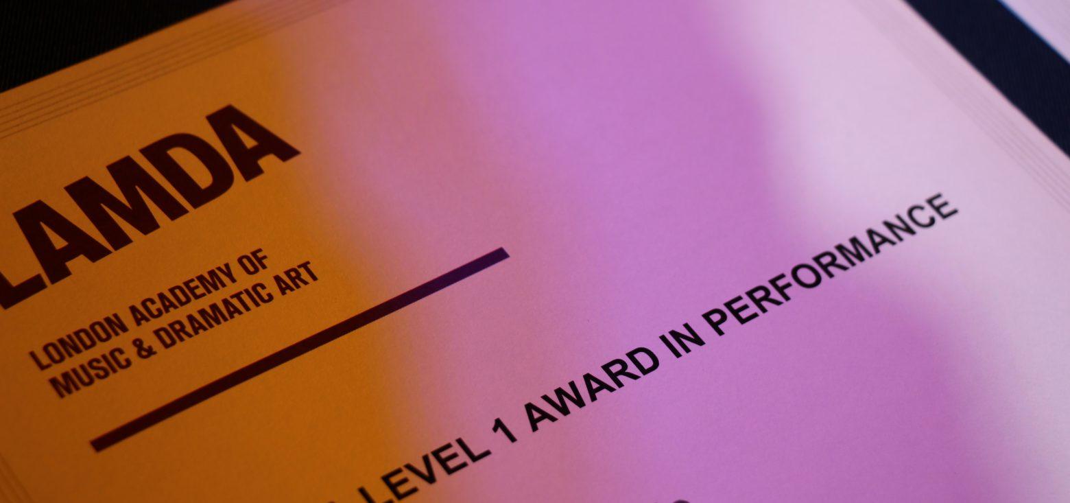 LAMDA Examinations Level 1 award
